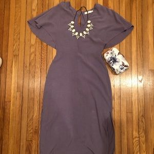 Light purple tea-length dress